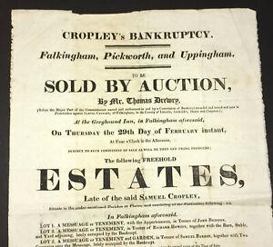 Samuel Cropley S Bankruptcy Auction Broadside Falkingham Pickworth Uk 1816 Ebay