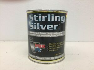 POR-15-Quart-STIRLING-SILVER-Top-Coat-Silver-Coating-Free-Shipping