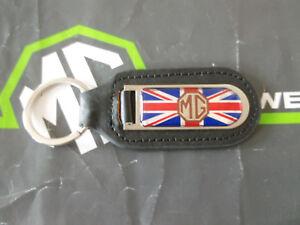 MG-Midget-Genuine-Leather-Keyfob-Keyring-MG-Union-Jack-mgmanialtd-com