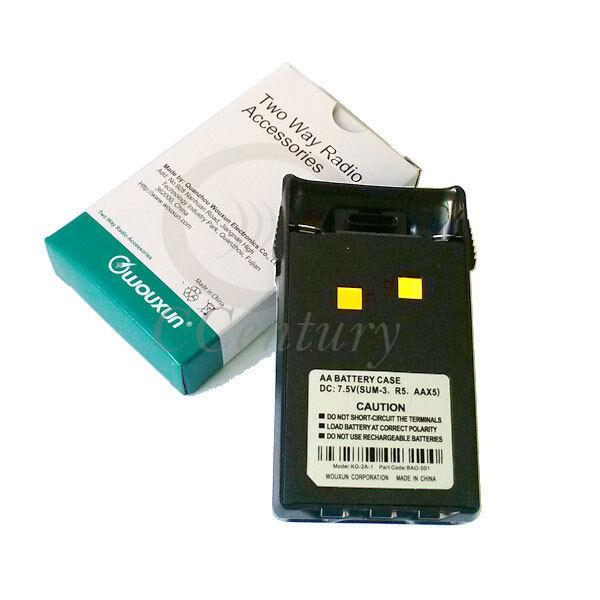 AA Battery Shell Case Pack for Wouxun Radio KG-UVD1P KG-UV3D KG669 KG679 New