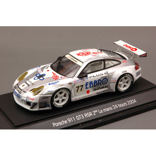 PORSCHE 911 GT3 RSR N.77 12th LM 2004  2nd LMGT  KUROS.-ORIDO-NISH.1:43 Ebbro