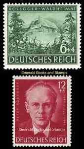 EBS-Germany-1943-Peter-Rosegger-centenary-set-Michel-855-856-MNH