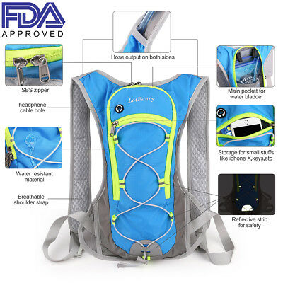 d5a251f7cf47 2L Outdoor Sporting Hydration Backpack Water Bladder Bag Packs Hiking  Camping | eBay