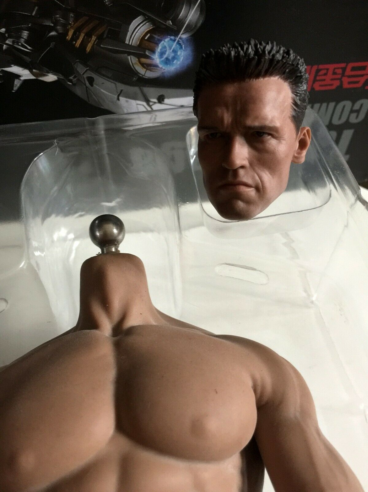 1 6 PHICEN Male Body Body Body M34 Seamless Muscular Arnold blackenegger Head Sculpt Toy 785015