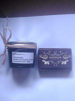 Pinon Pine Black Tar Salve 4 oz 75% Organic Pine gum /4 oz bar black tar  soap | eBay