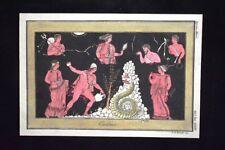 Cadmo, Tebe, Beozia Incisione colorata a mano del 1820 Mitologia Pozzoli