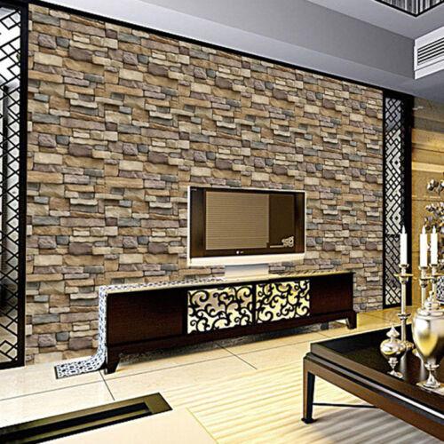 JAP Stone Pattern Brick Wall Paper Sticker Kitchen Bathroom Home Waterproof PVC