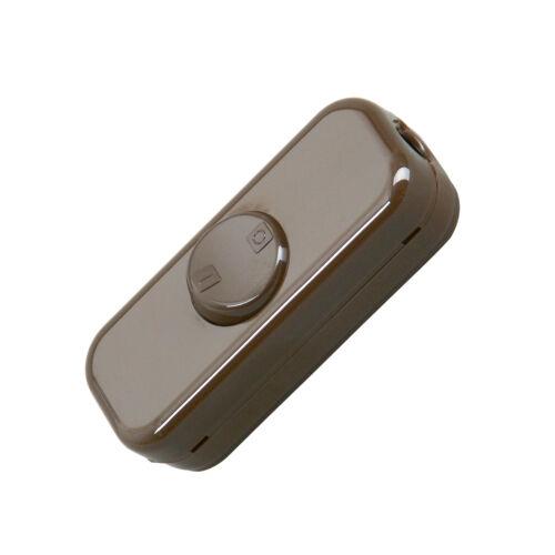 Kopp Schnurzwischenschalter 2-polig braun Wippenschalter 250V Schalter Neuware