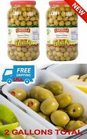 1 Gallon Stuffed Queen Olives Bar Salad Martini Garnish Condiment, 2 Jars Total