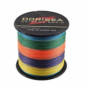 300M Multi-Color Dorisea Super Strong Dyneema PE Braided Sea Fishing Line@Fish