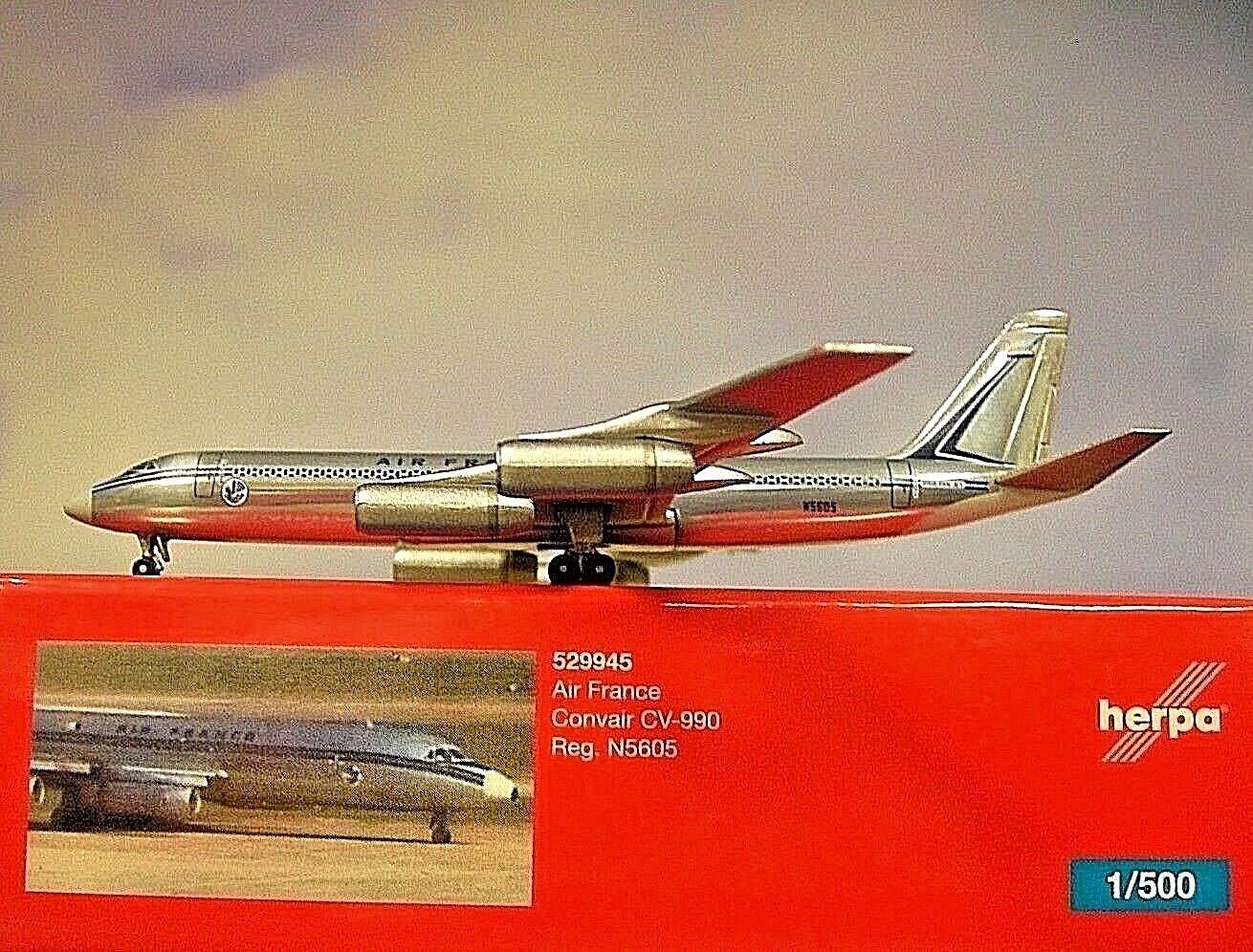 Herpa Herpa Herpa Wings 1 500 Convair Cv-990 Air Francia N-5605 529945 Modellairport500 b3337f