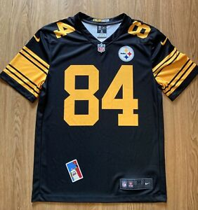 Antonio Brown size M Pittsburgh Steelers COLOR RUSH Black NFL Football Jersey 84