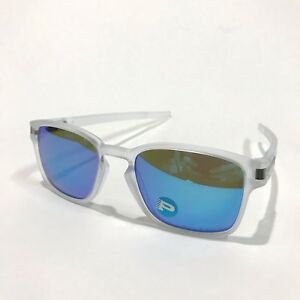 Oakley-Sunglasses-Latch-Squared-9353-06-Matte-Clear-Sapphire-Iridium-Polarized