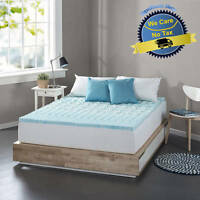 Cooling Gel Memory Foam Mattress Topper Pad Bed Cushion Zoned Orthopedic Firm 1