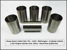 Accoppiamenti: NISSAN PATROL / SAFARI Y60 / Y61 2.8td-rd28 MOTORE CYLINDER Liner Set 08/1988 +