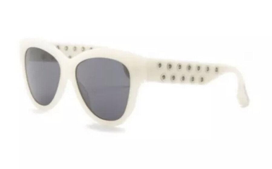 NEW WT MCQ by Alexander McQueen MQ0020S 004 51-19-140 Ivory Sunglasses Unisex