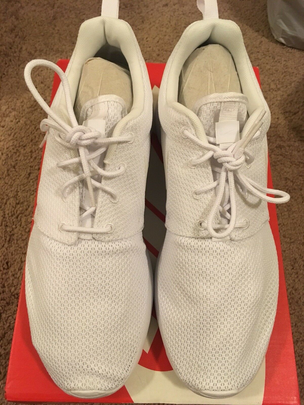 Nike ROSHE RUN White White Athletic Men's Running Sneaker
