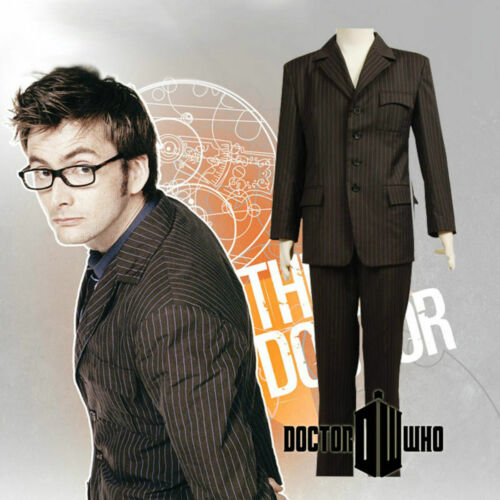 10th Doctor Doctor Who David Tennant Brown Suit uniform cosplay costume New
