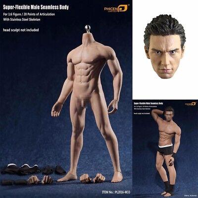 1//6 Phicen Super Flexible Male Seamless Body Steel Skeleton PL2016-M33 TBLeague
