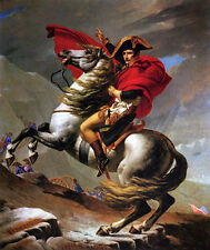 Art Oil painting Jacques Louis David - Napoleon Crossing the Alps on Gray Horse