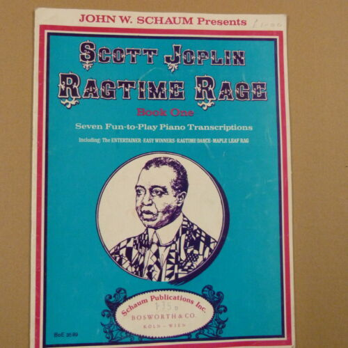 piano SCOTT JOPLIN Ragtime Rage Book 1