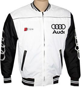 audi s line jacket coat veste parka embroidered logos s3 s4 s5 s6 dtm ebay. Black Bedroom Furniture Sets. Home Design Ideas