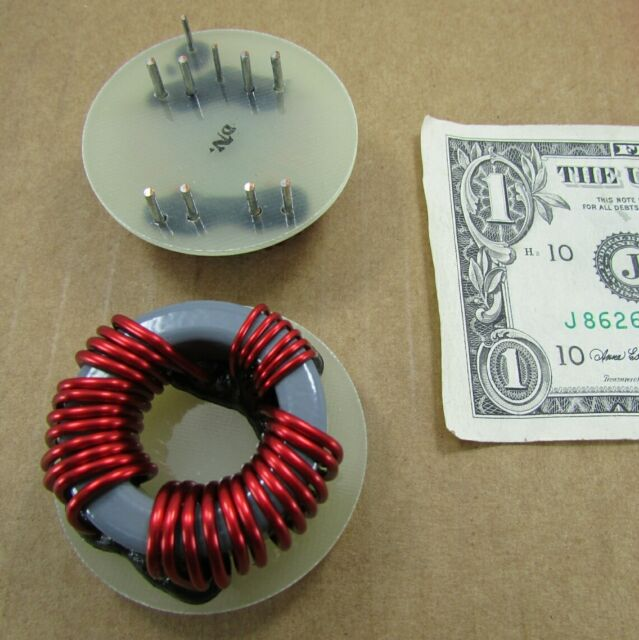 5 Large Copper Wire Wound Ferrites Chokes Filters,Toroids Inductors Electronics