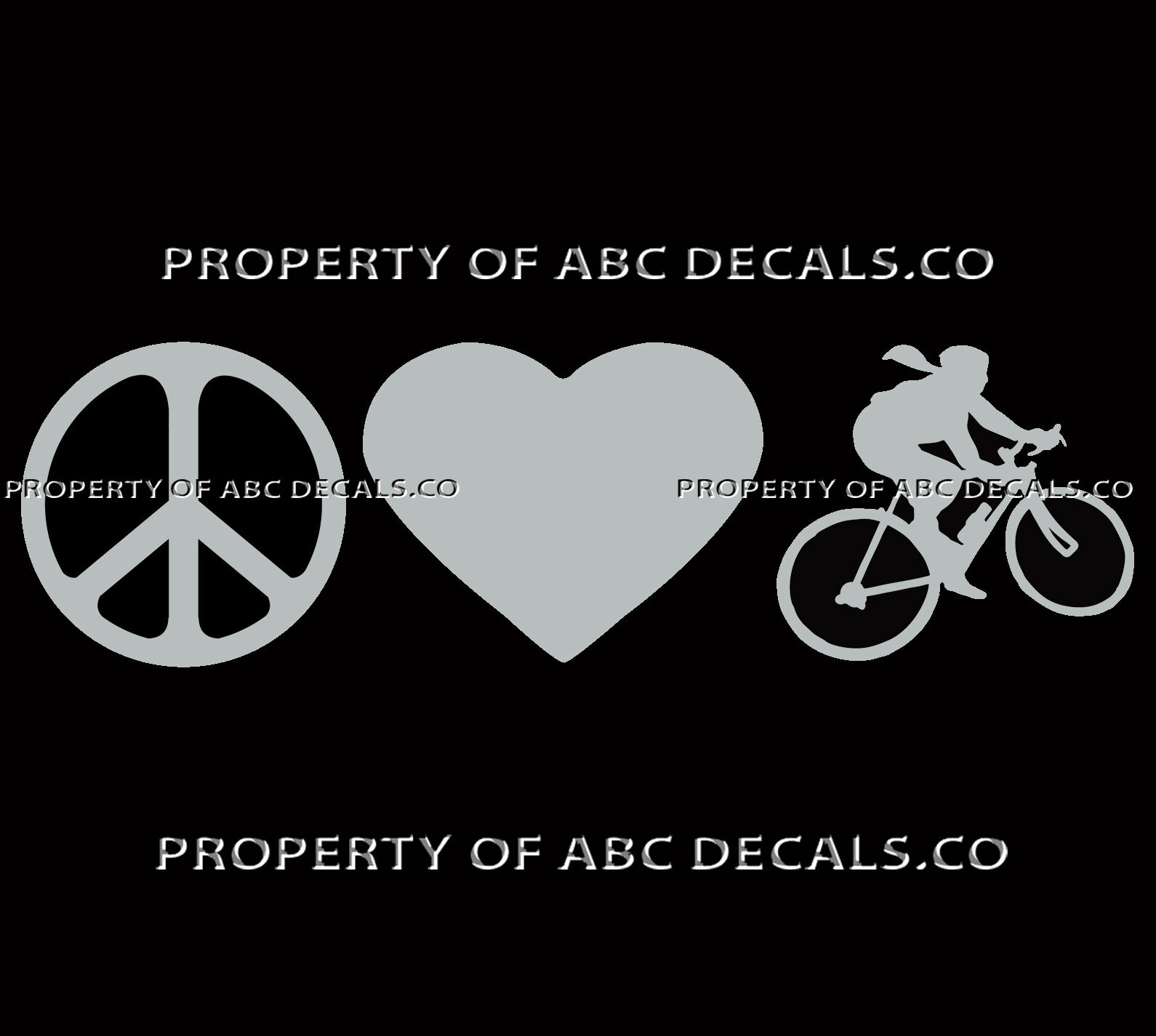EAT SLEEP RIDE Street Cycling Vinyl Decal Sticker Cycle Bike Bumper Car Sign