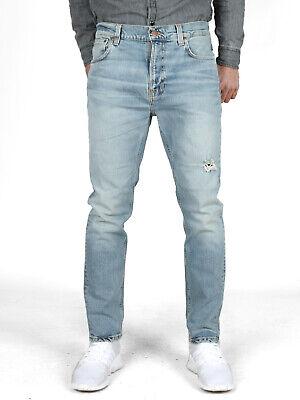 Nudie Uomo Regular Tapered Fit Jeans | Brute Knut Pale Surface | Lungo Alla Caviglia- Prezzo Ragionevole