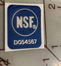 2x Nsf Sticker Decal National Sanitation Foundation Restaurant Electrical Safety