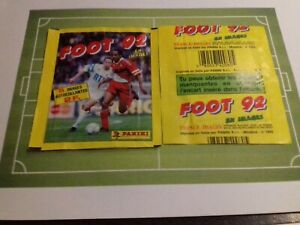 2-sealed-pouches-tuten-panini-soccer-football-92-france-french-1992