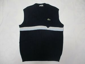 Pull-LACOSTE-bleu-marine-sans-manche-made-in-France-TIM-SA-acrylique-taille-3