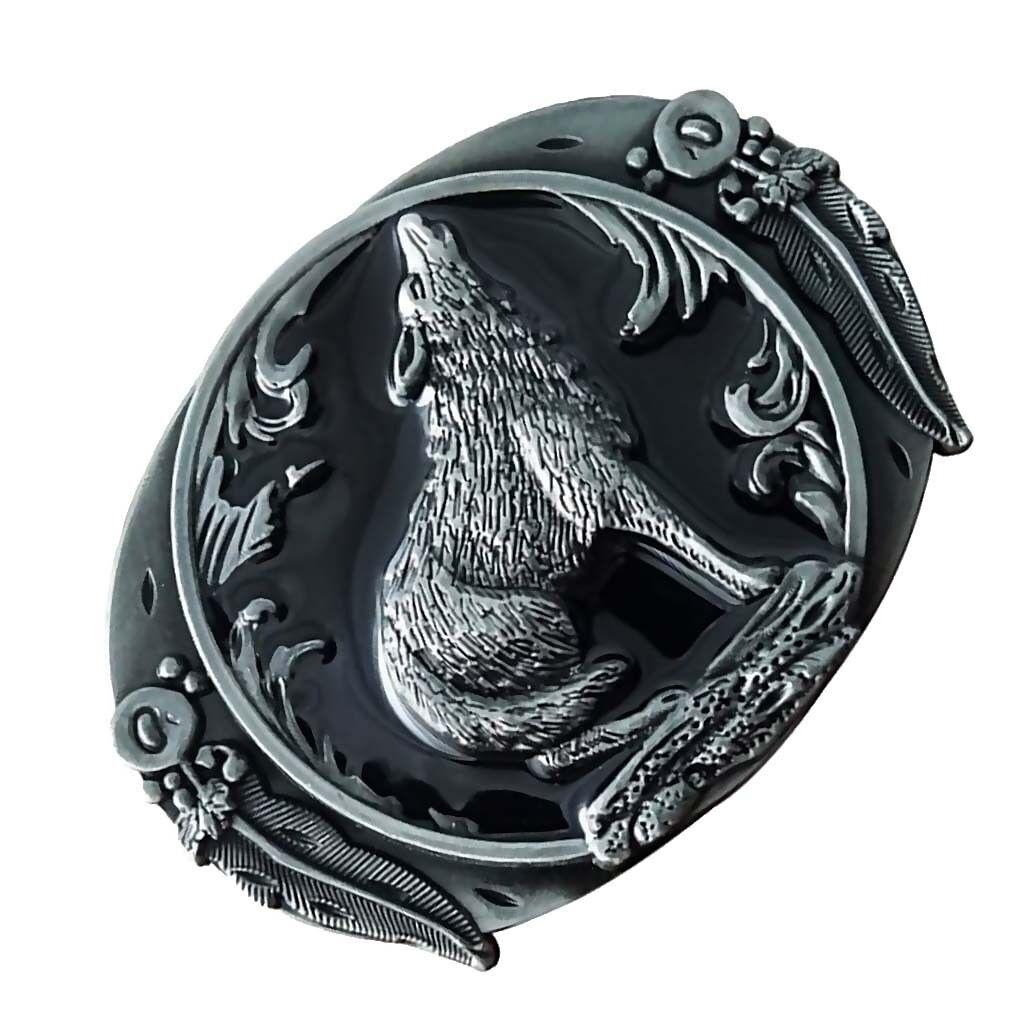 Western Howling Wolf Metall Mode Gürtelschnalle mechanische Gürtelschnalle