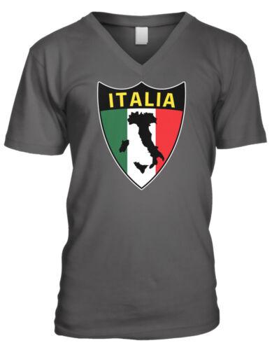 Italia Shield Italy Italian Italianos Repubblica Italiana Mens V-neck T-shirt