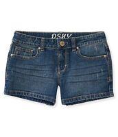 Ps Aeropostale Kids Girls Size 8 Denim Blue Jean Shorts Adjustable Waist