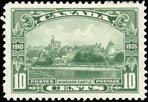 1935-Mint-Canada-VF-Scott-215-10c-King-George-V-Stamp-Hinged