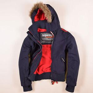 huge discount c0083 ec402 Details zu Superdry Damen Jacke Gr.L (DE 40) The Windbomber Fleece-Futter  Navy Blau, 57851