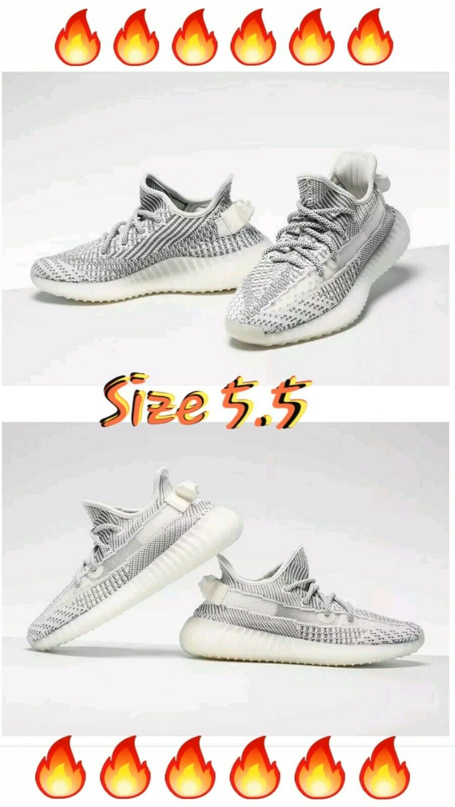 NEW Adidas Yeezy Boost 350 V2 STATIC EF2905 100% AUTHENTIC GUARANTEED Size 5.5