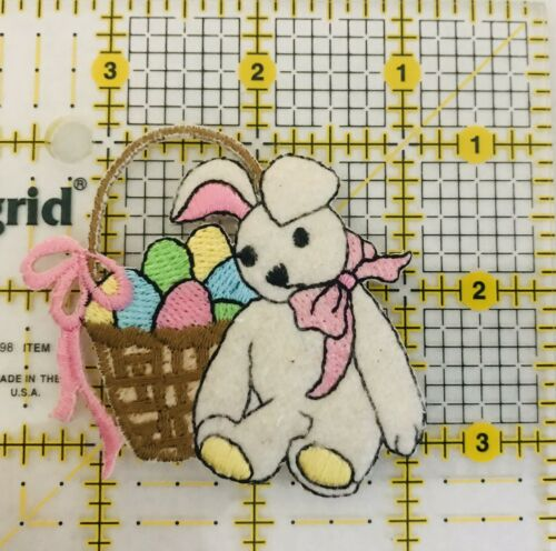 Easter Bunny Eggs Easter Basket Patch Iron On Colorful Appliqué