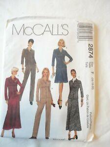 Vintage 2000 Sewing Pattern Shirt Jacket , Pants & Skirt Size 16-18-20 Uncut