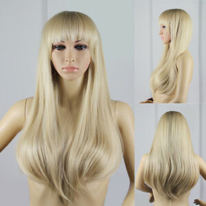 LC-moderne-femme-ton-Neat-Bangs-lisse-Perruque-integrale-Cosplay-CLUB-postiche