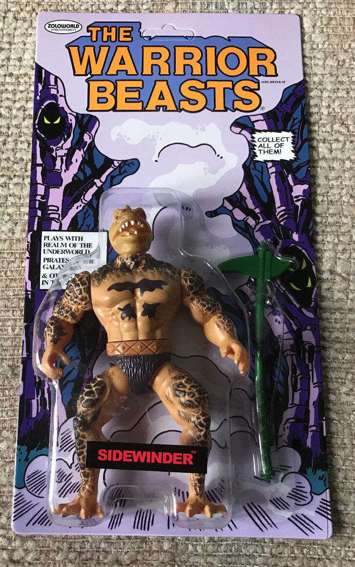 THE WARRIOR BEASTS SIDEWINDER NYCC 2018 EXCLUSIVE MOC ZOLOWORLD rossoU MOTU KO
