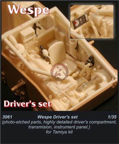 CMK 1//35 Sd.Kfz.124 Wespe Driver/'s Set for Tamiya kit 3061