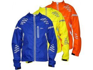 Piu Miglia Commuter Mens Cycling Jacket Orange Hi-Viz Reflective Waterproof M L