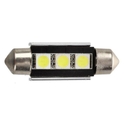 2 x Canbus 3 SMD LED Soffitte 36mm 12V 10W Weiß Innenraum Kennzeichenbeleuchtung