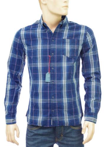 PEPE JEANS chemise carreaux homme HORN INDIGO PM301851 bleu
