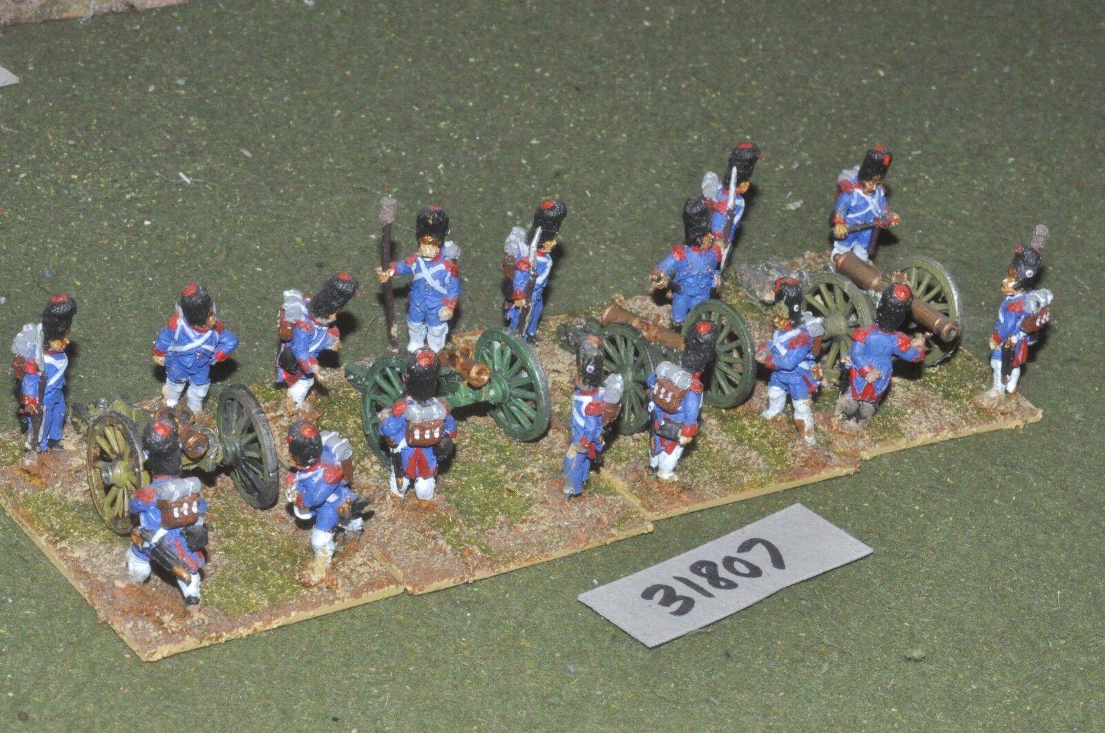 25mm napoleonic     french - guard 4 guns & crews - art (31807) 29cf77