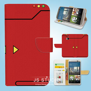 HTC-One-M7-M8-M9-Flip-Wallet-Case-Cover-Pokemon-Red-Pokedex-W083