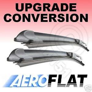 "FORD Transit V 2000-2006 Front Pair Aero Flat Windscreen Wiper Blades 28/""24/"" A"