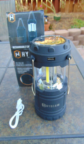 brand new in box Hybeam XS Solar Lantern with USB device charger